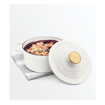 Martha Stewart Collection 2-Qt. Round Covered Dutch Oven