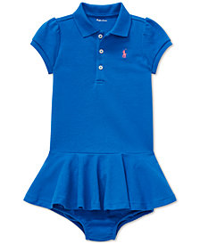 Polo Ralph Lauren Baby Girls Piqué Cotton Polo Dress