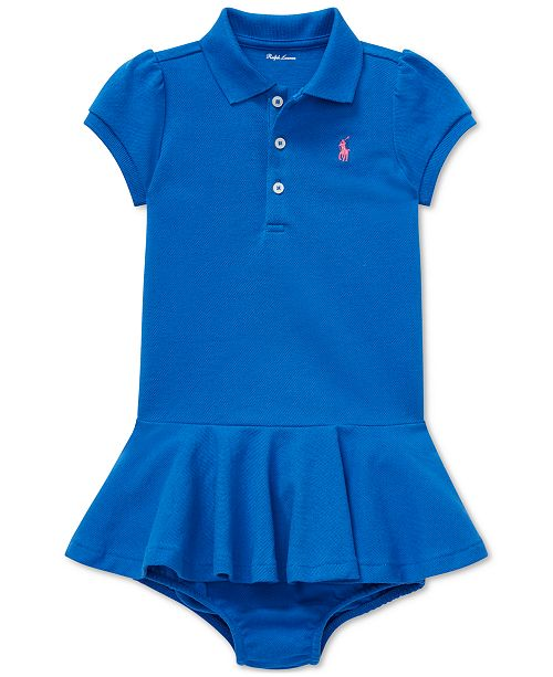 Polo Ralph Lauren Baby Girls Piqué Cotton Polo Dress