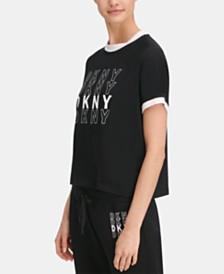 DKNY Sport Logo Ringer T-Shirt