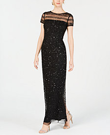 Adrianna Papell Petite Sequined Gown