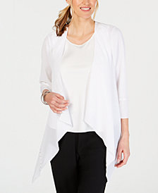 JM Collection Petite Studded Draped Cardigan, Created for Macy's