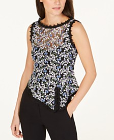 Nanette Lepore Embroidered Top, Created for Macy's