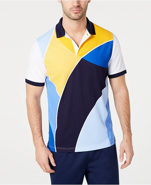 Club Room Men's Regular-Fit Colorblocked Polo, Created for Macy's