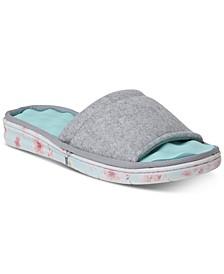 Women's Wool Inspired Slide Slippers, Online Only