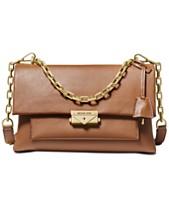 f126940d5628 MICHAEL Michael Kors Cece Polished Leather Chain Shoulder Bag
