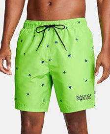 "Nautica Men's Blue Sail Logo Graphic 6"" Swim Trunks, Created for Macy's"