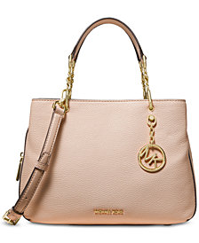 MICHAEL Michael Kors Lillie Pebble Leather Satchel