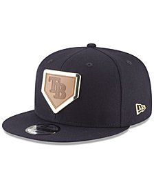 New Era Tampa Bay Rays Framed Leather 9FIFTY Snapback Cap