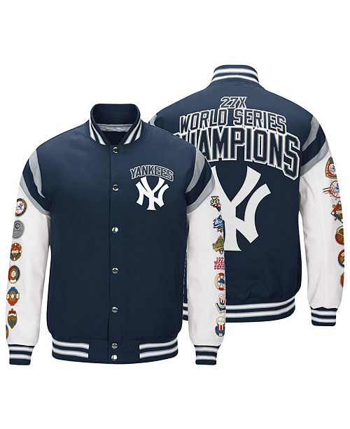 a8dae79d2 G-III Sports. Men s New York Yankees Home Team Commemorative Varsity Jacket.  Be the first to Write a Review.  140.00