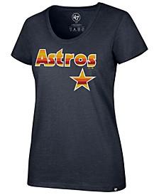 Women's Houston Astros Club Scoop Logo T-Shirt