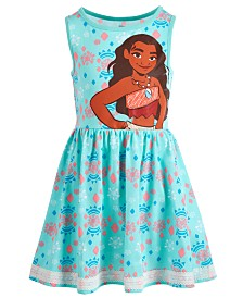 Disney Little Girls Printed Moana Dress