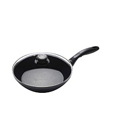 "Swiss Diamond HD Induction Stir Fry Pan with Lid - 10.25"" , 2.4 QT"
