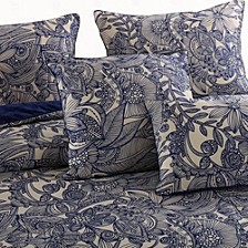 Valentina 4-Piece Flowers and Doodles Microfiber Comforter Set