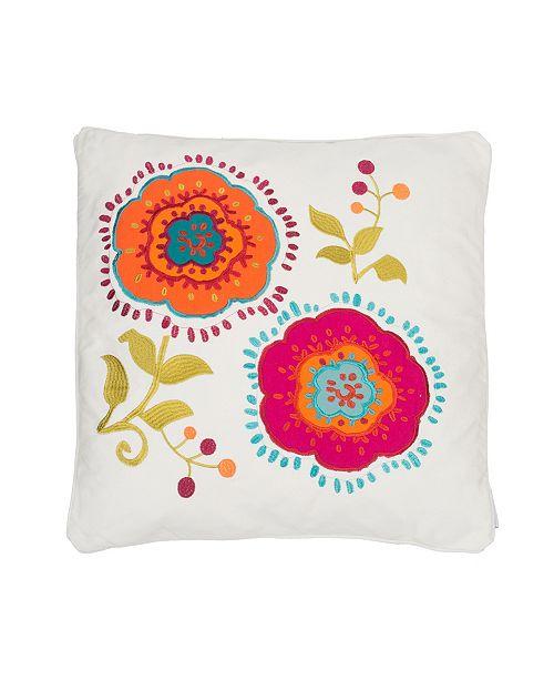 Levtex Home Tivoli Bone Applique Flowers Pillow