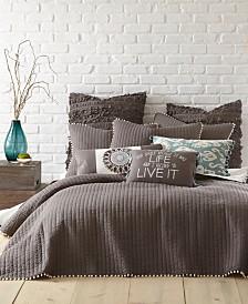 Levtex Home Pom Pom Slate King Quilt