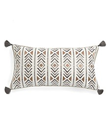 Home Santa Fe Embroidered with Tassel Pillow