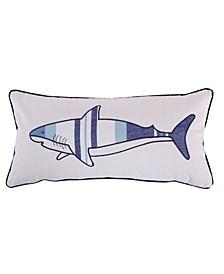 Home Sammy Shark Printed Pillow