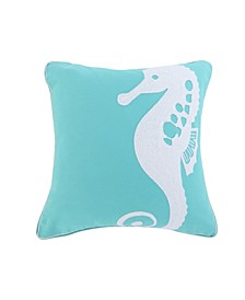 Home Del Ray Embroidered Seahorse Pillow