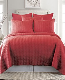 Home Cross Stitch Chile Red Full/Queen Quilt Set