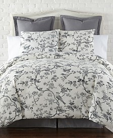 Levtex Home Black Toile Queen Duvet Cover Set
