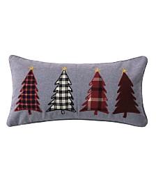 Levtex Home Rudolph Snowflake Gray Pillow