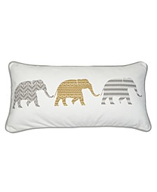 Home Samara Almond 3 Elephant Pillow
