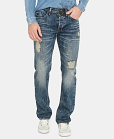 Buffalo David Bitton Men's Driven Relaxed Fit Distressed Jeans