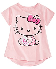 Little Girls Kitty-Print T-Shirt