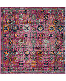 "Safavieh Artisan Fuchsia and Multi 6'7"" x 6'7"" Square Area Rug"