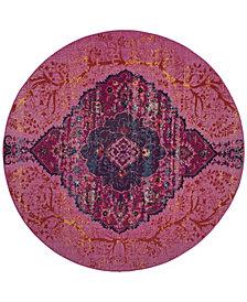 "Safavieh Artisan Fuchsia and Multi 6'7"" x 6'7"" Round Area Rug"