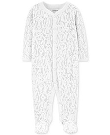 Carter's Baby Boys or Girls Bunny-Print Cotton Coverall