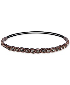 Deepa Gold-Tone Stone, Bead & Braided Stretch Headband