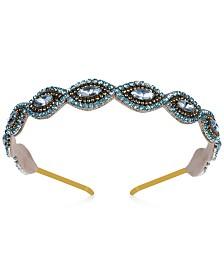 Deepa Two-Tone Scalloped Crystal & Bead Headband