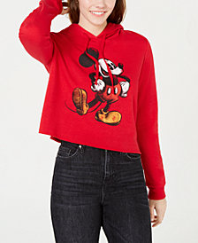 Modern Lux Juniors' Mickey Mouse Cropped Hoodie