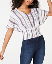 51982855f690b Crave Fame by Almost Famous Juniors  Batwing-Sleeve Crop Top