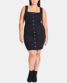 City Chic Trendy Plus Size Denim Bodycon Dress