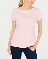 521f36cf82a85 Karen Scott Scallop-Neck Cotton Top