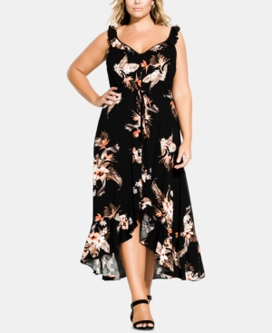 City Chic  TRENDY PLUS SIZE SEVILLE MAXI DRESS