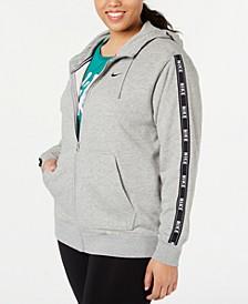 Plus Size Sportswear Logo Zip Hoodie