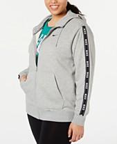Nike Plus Size Sportswear Logo Zip Hoodie df8bcd880
