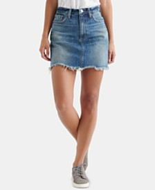 Lucky Brand Old Favorite Cotton Denim Skirt