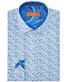 Men's Slim-Fit Non-Iron Performance Stretch Floral Dress Shirt