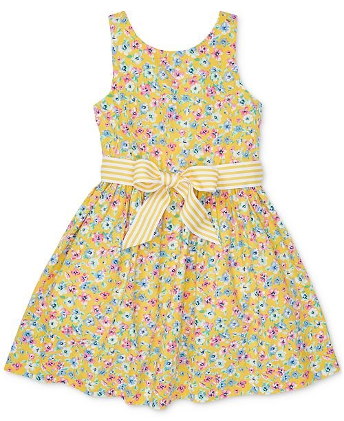 56eb776d20 ... Polo Ralph Lauren Toddler Girls Floral-Print Fit & Flare Cotton Dress  ...