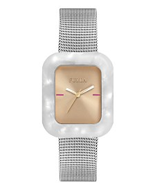 Furla Women's Elisir Rose Gold Dial Stainless Steel Watch
