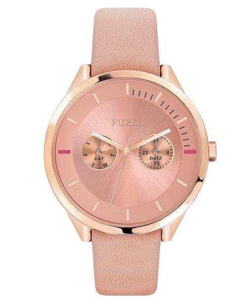4a96461dd9 Furla Women's Metropolis Pink Dial Calfskin Leather Watch & Reviews ...