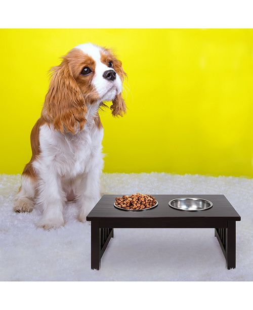 Yu Shan Chappy Pet Feeder with Mission Style Legs