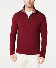Michael Kors Men's Piqué Quarter-Zip Sweater