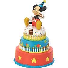 Precious Moments Disney Showcase Mickey Mouse Birthday Cake LED Tabletop Figurine