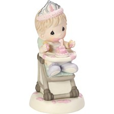 Precious Moments Baby Girl's First Birthday Figurine